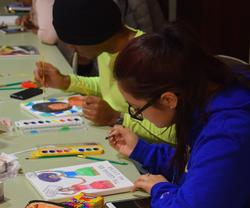 Students celebrate Black History Month with art.