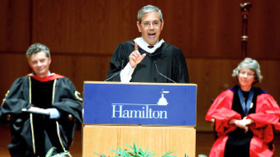 """Hang in there. You get surprised"" Haddity '83 tells Class & Charter convocation"