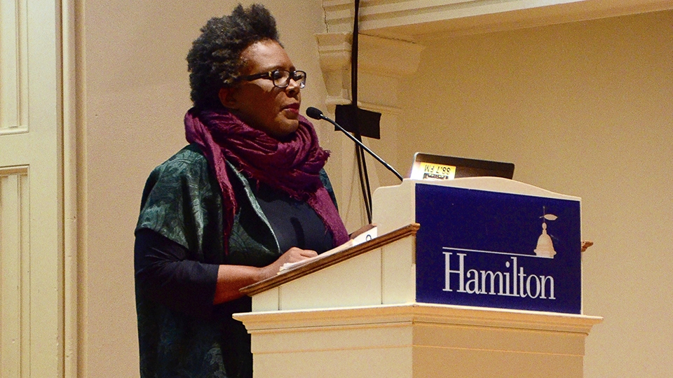 Citizen author Claudia Rankine gives powerful lecture on race and imagery