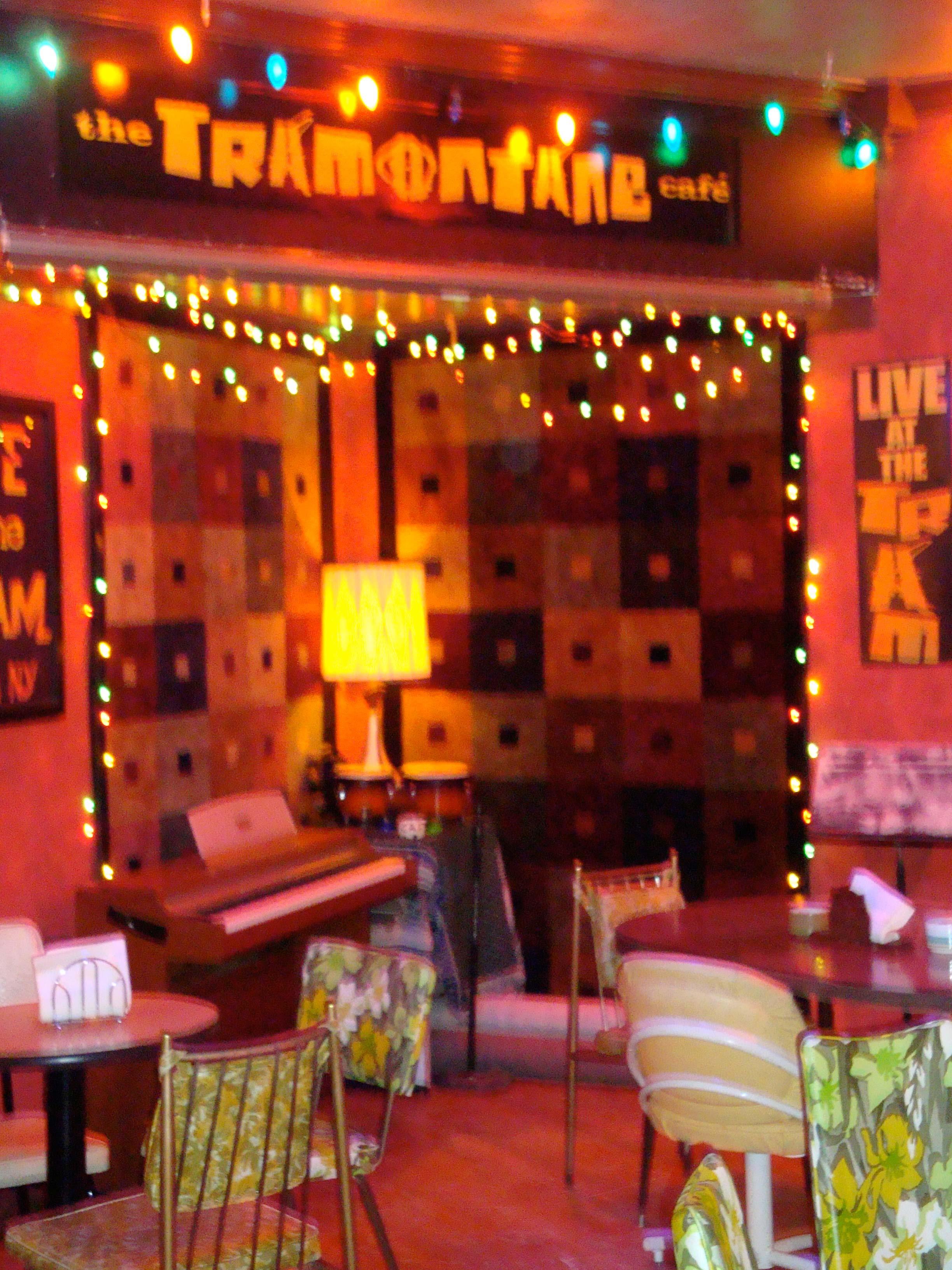 Tramontane Cafe Menu